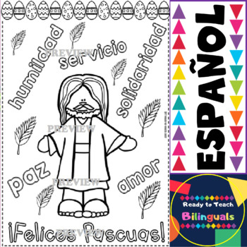 Coloring Posters in Spanish - Easter