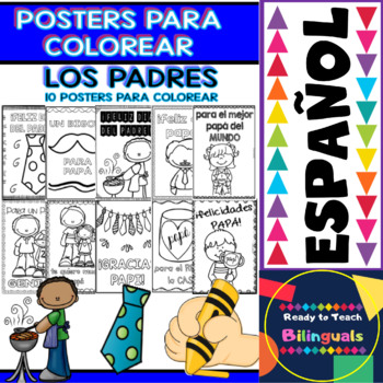 Coloring Posters in Spanish - Fathers