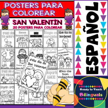Coloring Posters in Spanish - St. Valentine Day (20 posters)