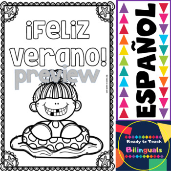 Coloring Posters in Spanish - Summer (20 posters)