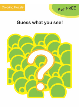 Coloring Puzzle: Guess what you see! (For FREE)