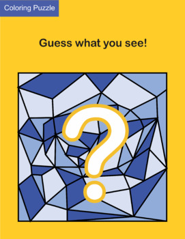 Coloring Puzzle: Guess what you see! (vol. 1)