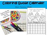 Coloring Quotes Calendar