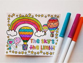 Positive Notes to Color | 30 Fun, Creative Designs