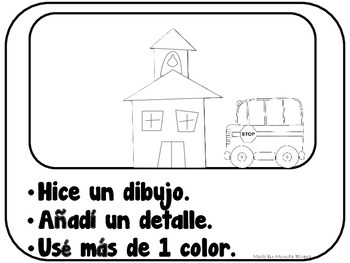 Coloring Rubric in Spanish