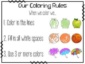 Coloring Rules Poster
