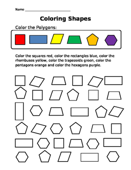 Coloring Shapes: Polygons