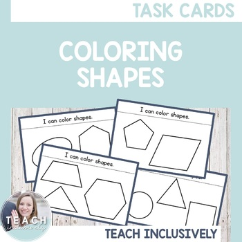 Coloring Shapes Task Cards