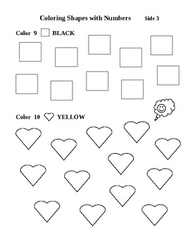 Coloring Shapes with Numbers