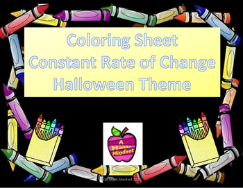 Coloring Sheet - Constant Rate of Change Halloween Theme