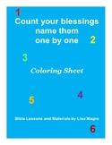 Coloring Page - Count your blessings -  Print and Go!