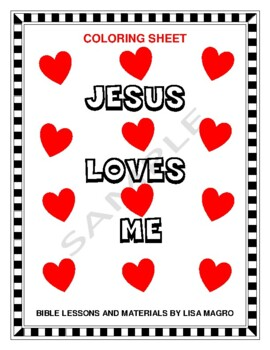 Coloring Page - Jesus loves me -  Print and Go!