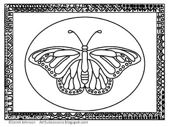 Coloring Sheet - Monarch Butterfly