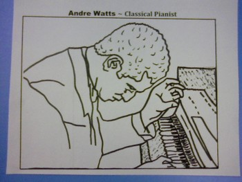 Music Coloring Page - Andre Watts
