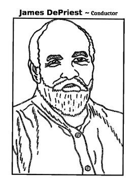 Music Coloring Page - James DePriest