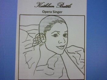 Music Coloring Page - Kathleen Battle