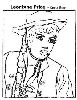 Music Coloring Page - Leontyne Price