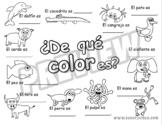 """Coloring Sheet for song """"De qué color es"""" (FREEBIE)"""