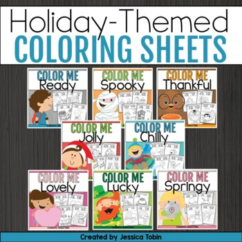 Color By Number And Sight Word Coloring Sheets Bundle
