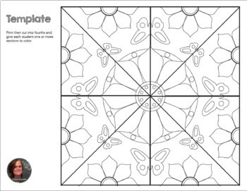 Springtime Butterfly Mosaic- Interactive Coloring Sheets ...