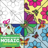 Springtime Butterfly Mosaic- Interactive Coloring Sheets -