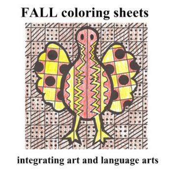 "Fall Coloring Sheets - ""Easy-art"" and Language Arts"