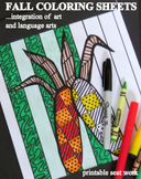 "Fall Coloring Sheets - ""Easy-art"" and Language Arts"