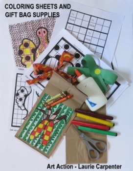 Fall GIFT BAGS - Coloring Sheets for Fall
