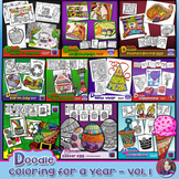 Doodle Coloring Activities for a Year Bundle