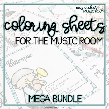 Coloring Sheets for the Music Room Mega Bundle