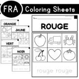 Coloring Sheets (with French Translations)