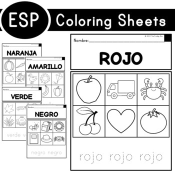 Coloring Sheets (with Spanish Translations)
