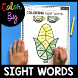 Coloring Sight Words - Color by Word - Kindergarten Sight