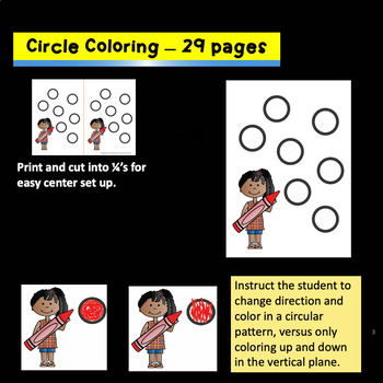 Coloring Skills Center Activities and Training
