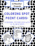 Coloring Spot Point Cards