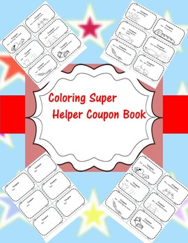 End of Year Coloring Super Helper Coupon Book