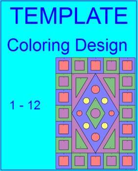 Coloring Activity Template for Personal Use Only (1 - 12 problems) #5