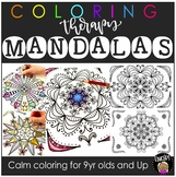 Coloring Therapy  - Mandalas Coloring Pages {Educlips Resources}