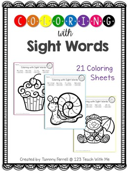 Coloring With Sight Words