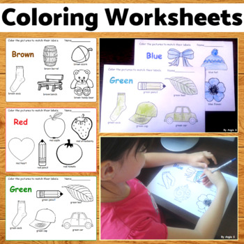 Coloring Worksheets - Learn the Colors