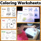 Coloring Worksheets - Learn the Colors At Home Learning