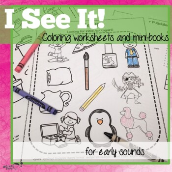 Coloring Worksheets and Books for P, B, T, D, M and N I See It!