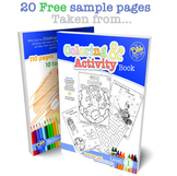 Coloring and Activity Book. 20 Sample Pages