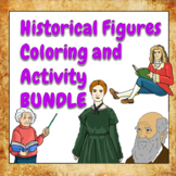 Coloring and Activity Book Bundle - Famous Artists, Scient