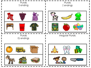 Coloring and Language Skills- Plurals