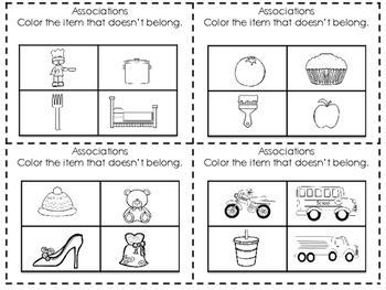 Coloring and Language Skills- Vocabulary