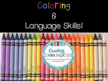 Coloring and Language Skills- Vocabulary