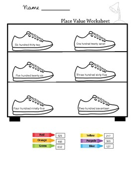 Coloring and Learning.Place Value worksheets.( Math )