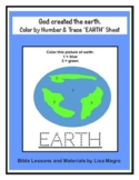 """Color by Number & Trace """"EARTH"""" Instant Worksheet - God cr"""