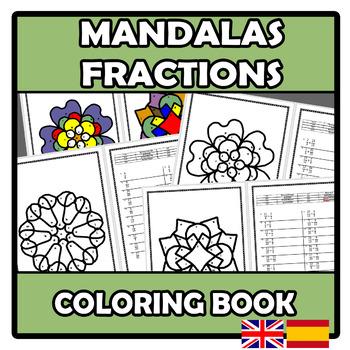 Coloring book - Mandalas - Fractions - Fracciones